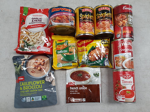 Soup and light meals Clearance Pack for week starting 13th April