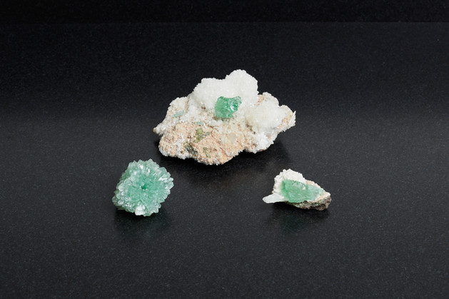 Collectors green Apophyllite flowers on Scolsite (£222, total weight 300g)