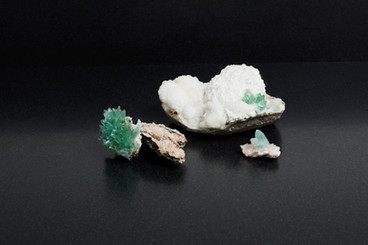 Collectors green Apophyllite flowers on Scolsite (£288, total  weight 350g)