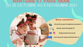 Inscriptions vacances de la Toussaint 2021/2022