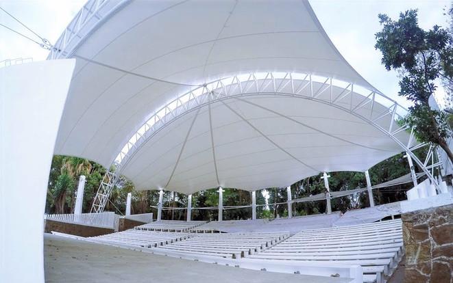 Tenso estructura para auditorio