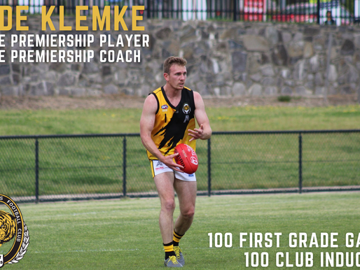 Klemke to become 95th Member of the 100 Club