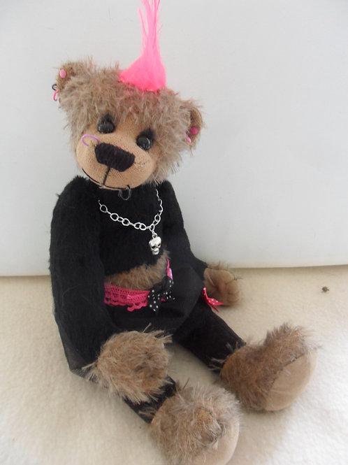 Schnittmuster *Betty*, das Gothic-Punk-Bärengirl,30 cm