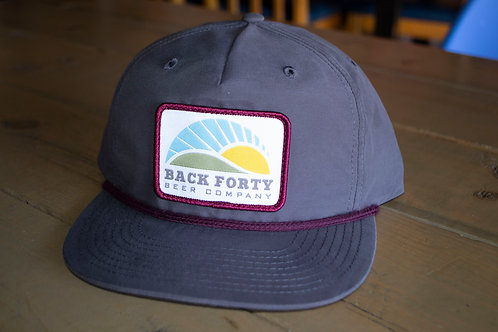 Gray with burgandy accent hat