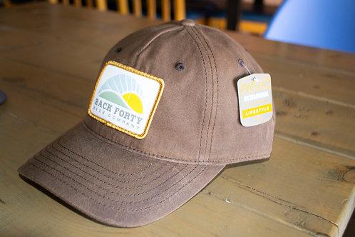 Brown rugged hat