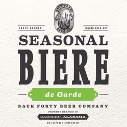 Seasonal Biere de Garde