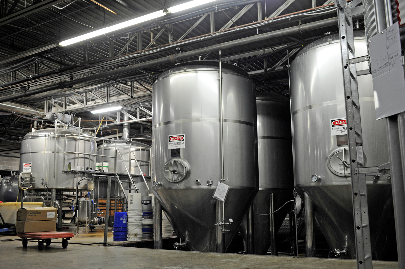 Fermenters and Brewhouse