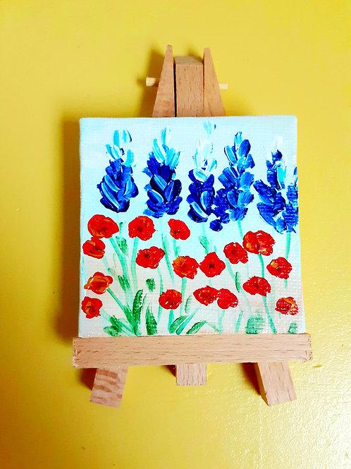 bonnet-poppy field