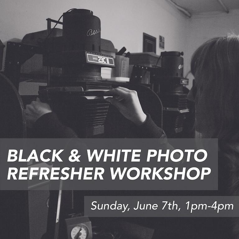 (POSTPONED) Spring Term Black & White Photo Refresher Workshop