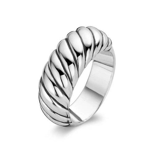 Ti Sento Silver Wave Ring - Size P