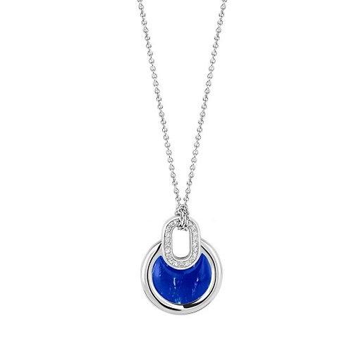 Ti Sento Silver Lapis Style Necklace