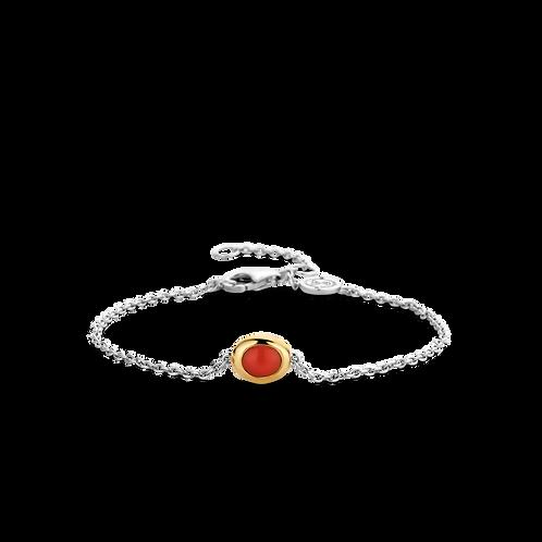Ti Sento Coral Red Bracelet