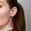 Thumbnail: Round Sparkle Stud Earrings