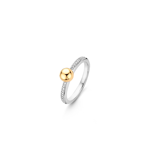 Ti Sento Gold-Plated Drop Ring - Size O