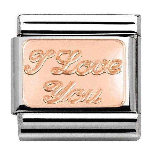 Nomination Rose Gold I Love You