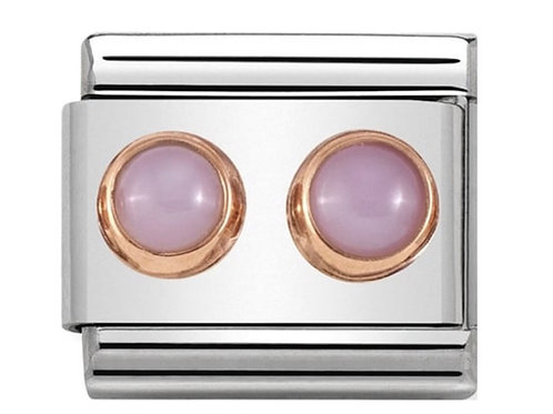 Nomination Rose Gold Double Pink Opal