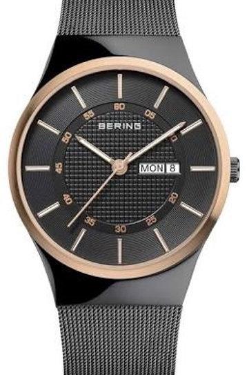 Bering Classic Two Tone Mesh Black Watch