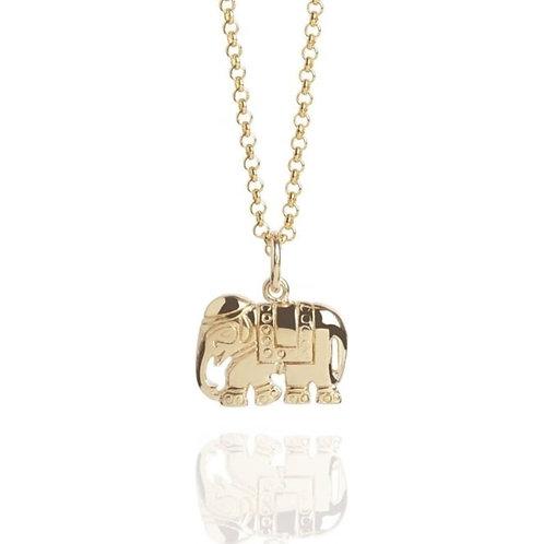 Gold Vermeil Elephant Necklace
