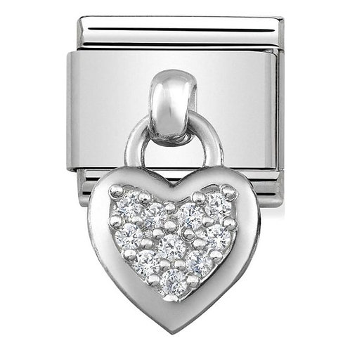 Nomination Silver Drop CZ Heart