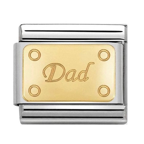 Nomination Gold Dad Plate