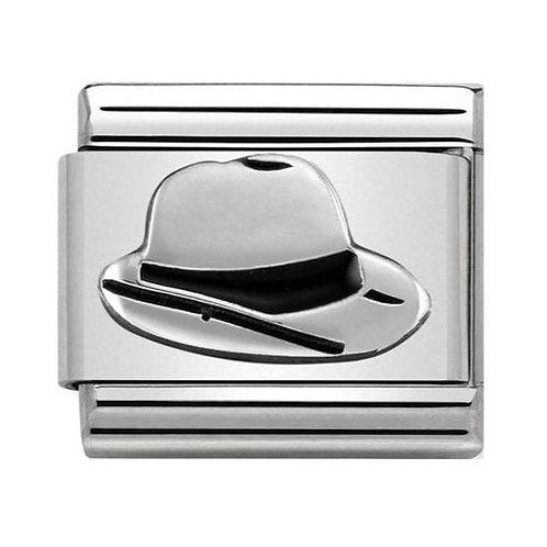Silver Panama Hat Charm
