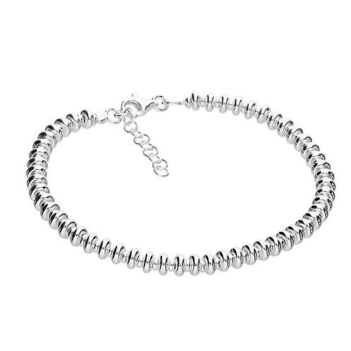 Sterling Silver 19cm Beaded Sweetie Bracelet