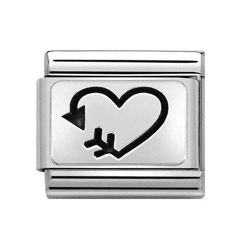 Nomination Silver Arrow Heart Left