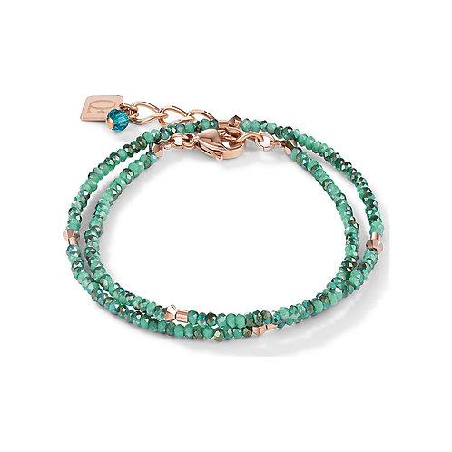 Coeur de Lion Green Turquoise Double Wrap Bracelet