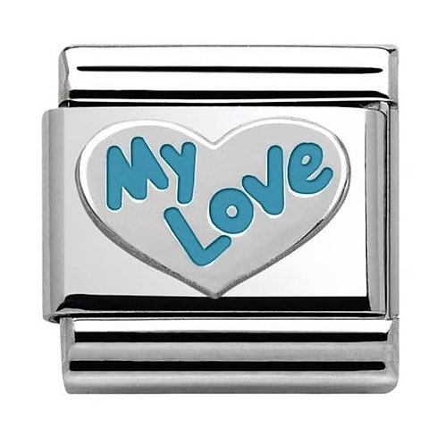 Nomination Silver My Love - Blue