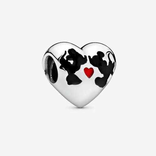 Minnie Mouse & Mickey Mouse Kiss Charm