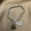 Thumbnail: Sterling Silver 19cm Heart Sweetie T-Bar Bracelet