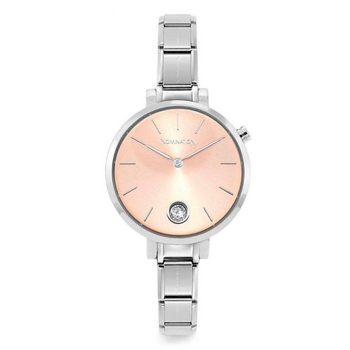 Nomination Paris Classic Pink Sunray & CZ Dial Watch