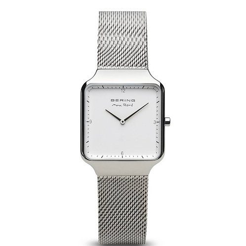 Bering Max René Polished Silver Watch