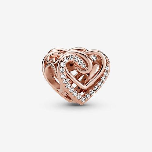 Rose Heart Charm