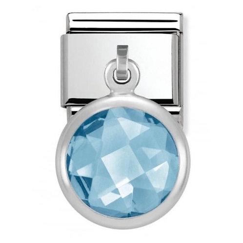 Nomination Silver Blue Stone Drop