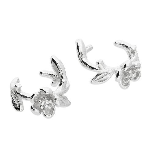 Sterling Silver Single Flower Cuff