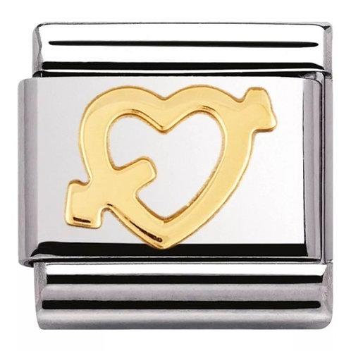Nomination Gold Heart & Arrow