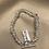 Thumbnail: Sterling Silver 19cm Strung Rings Sweetie T-Bar Bracelet