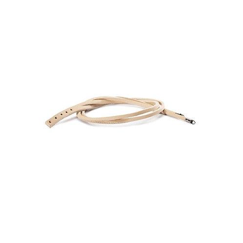 Beige Double Leather Bracelet