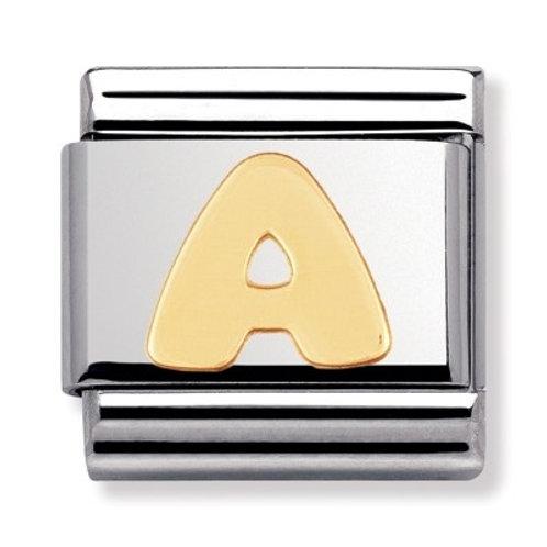 Nomination Gold Letters A-M
