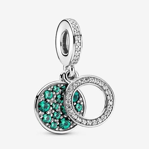 Green Button Dangle Charm