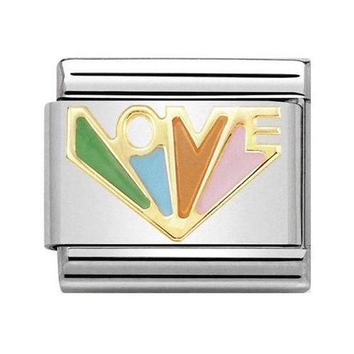 Nomination Gold Multicoloured Angel of Love