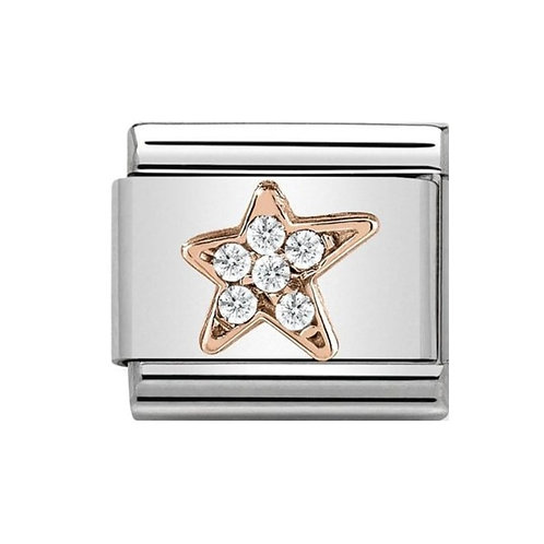 Nomination Rose Gold CZ Asymmetric Star