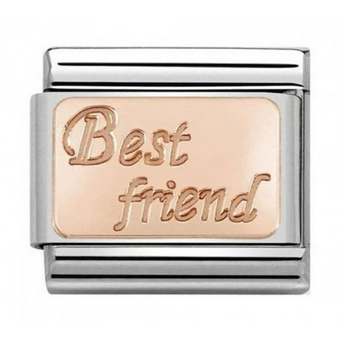 Nomination Rose Gold Best Friend Plate