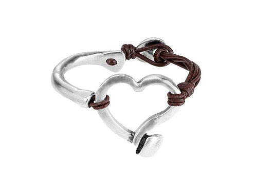 Weave Heart Bracelet