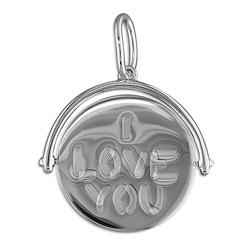 Sterling Silver 'I Love You' Spinner