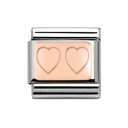 Nomination Rose Gold Double Heart