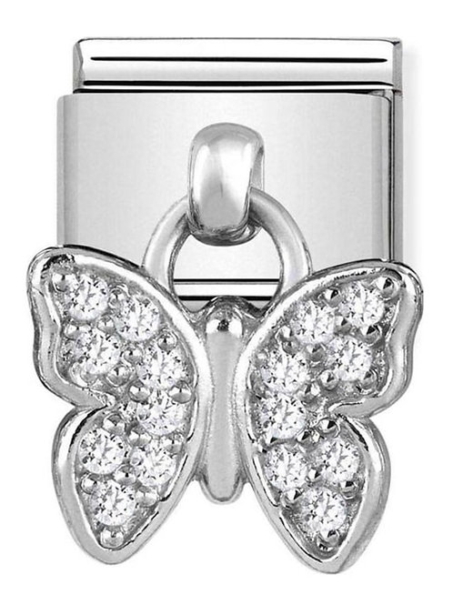 Nomination Silver Drop CZ Buttefly