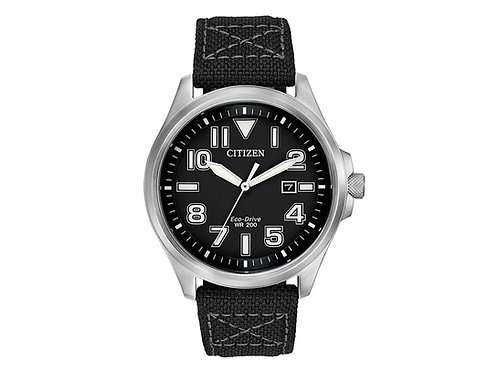 Mens Citizen Eco Drive Military Style Watch