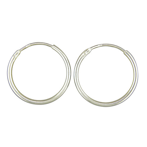 Sterling Silver 1mm Top Hinged Silver Sleepers